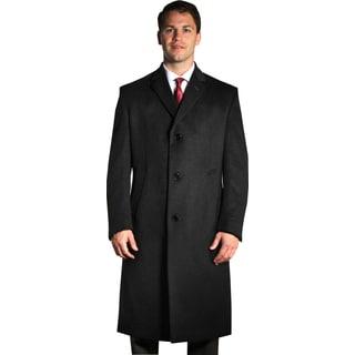 Jean Paul Germain Men's Black 'Sander' Overcoat