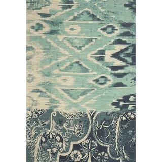 Feizy Light Blue Verapaz Hand-woven Rug (8' x 11')
