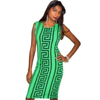Geometric Print Pencil Dress