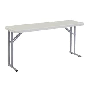"Plastic Blow molded Seminar Folding Table, 18""x60"", 4 Pack"