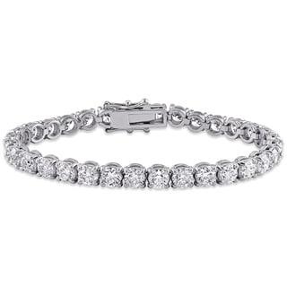 Miadora Signature Collection 18k White Gold 16ct TDW Diamond Tennis Bracelet (G-H, SI1-SI2) (IGI certified)