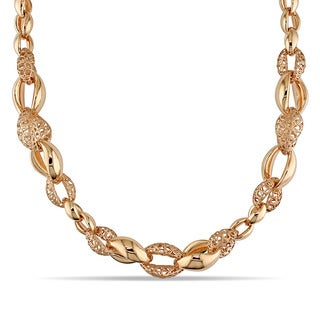 Miadora Signature Collection 18k Rose Gold Italian Fancy Link Necklace
