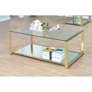 Furniture of America Demora Contemporary Metal Coffee Table