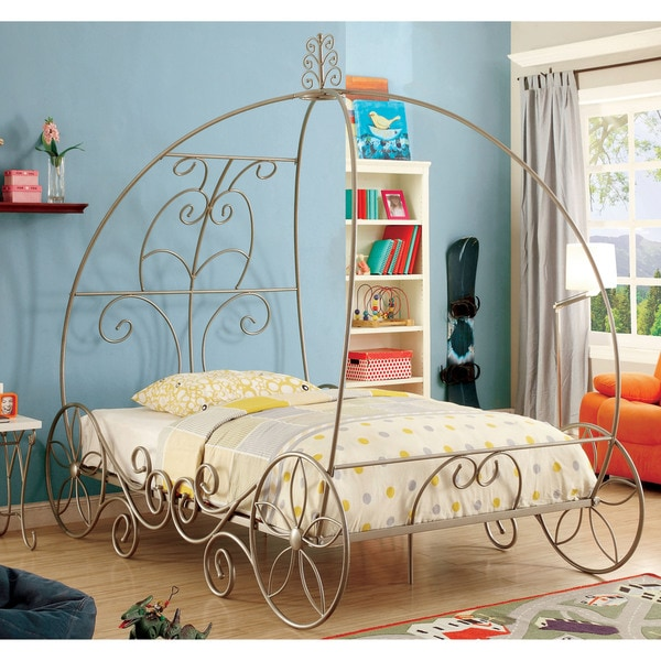 Furniture Of America Princess Dream Carriage Inspired Champagne Metal Bed 18137482 Overstock