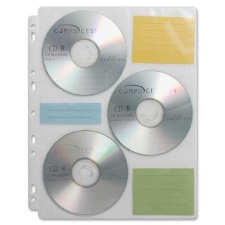 Large Cd Dvd Storage Binder System Pack Of 6 11043470