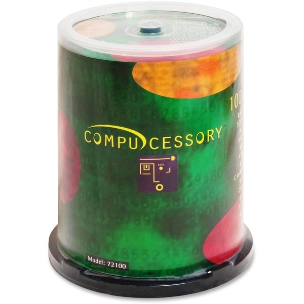 Compucessory CD-R Recordable Media 52x 700 MB - Pack of 100