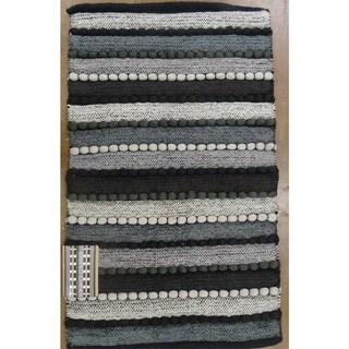 Grand Bazaar Grey Ashley Flatweave Rug (20 x 34)
