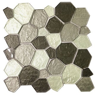 Instant Mosaic Peel and Stick 11.5-inch Glass Mosaic Wall Tile (6 sheets)