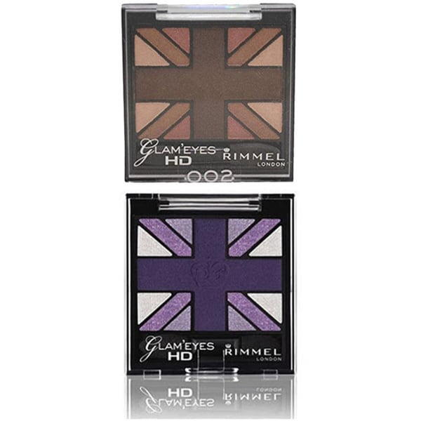 Rimmel London Glam Eyes HD Shadows (Purple Reign and English Oak)