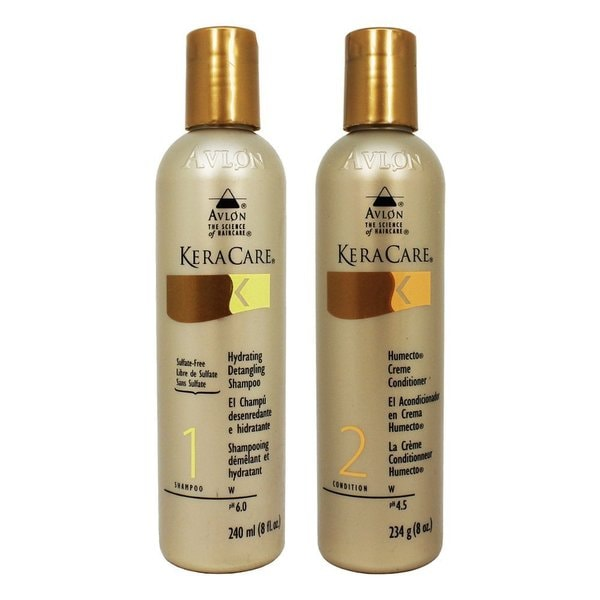 Avlon Keracare 8-ounce Hydrating Shampoo and Humecto Conditioner