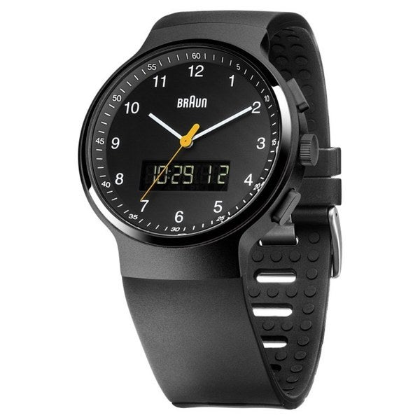 Braun Mens BN0159BKBKG Black Analog-Digital Quartz Watch