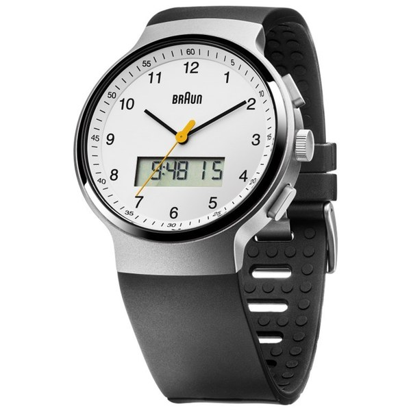 Braun Mens BN0159WHBKG Stainless Steel Analog-Digital Quartz Watch