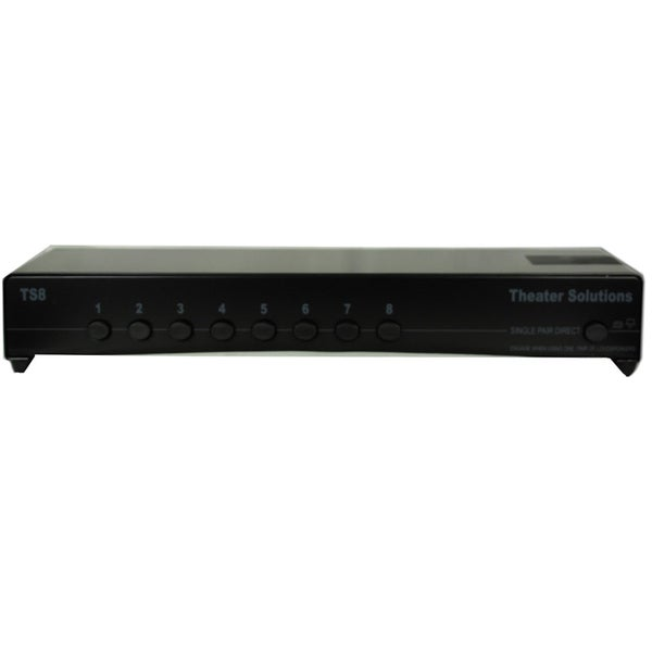 Theater Solutions TS8 Home Audio 16-speaker Selector Box 8-zone Passive Switcher