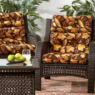 Greendale Set of Two High Back Chair Cushion in Timberland Floral