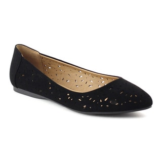 Beston BB44 Women's Slip-on Cut-out Ballet Flats