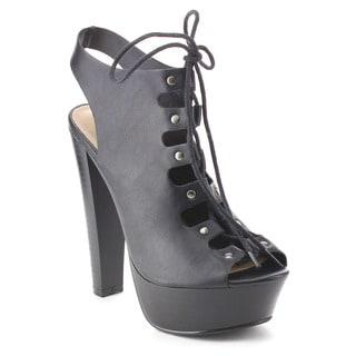 Beston BB41 Women's Peep Toe Chunky Heel Sandals