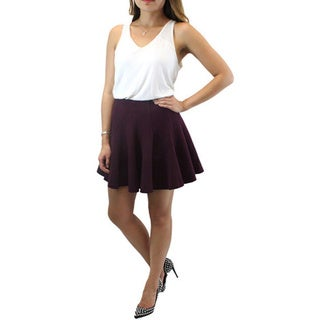 Relished Women's Lush Burgundy Skater Skirt
