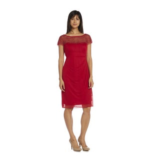 R&M Richards Women's Short Chiffon Dress