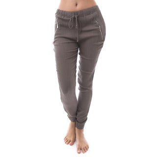 Soho Apparel Women's Crepe Pull-On Jogger Pants