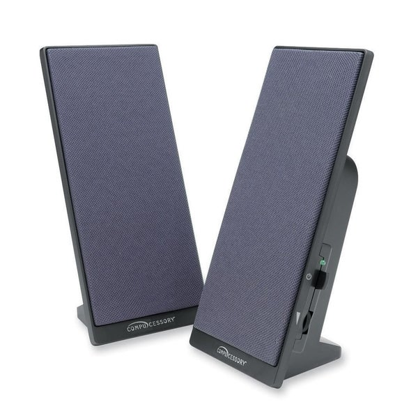 Compucessory 2.0 Speaker System - 3 W RMS - Black - 1 Set