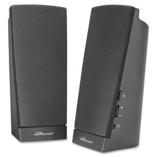 Compucessory Speaker System - 1 W RMS - Black - 1 Set