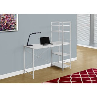 "Computer Desk-48""L/White Top/White Metal"