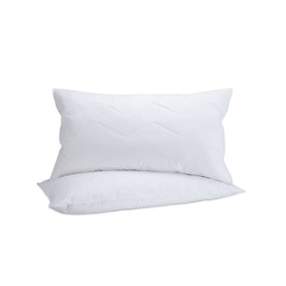 Fusion Cotton 95/5 Mini Feather and Down Inner and Down Alternative Outer King-sized Pillow (Set of 2)