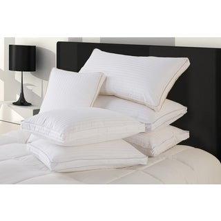 Ultra Cotton Firm Standard-sized White Down Pillows with Protectors (Set of 2)
