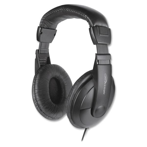 Compucessory Cushion Stereo Headphones w/Vol Cntrl - 1/EA