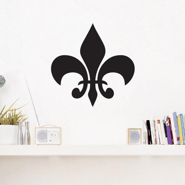 Fleur-de-lis' 12 x 12-inch Wall Decal 17185976