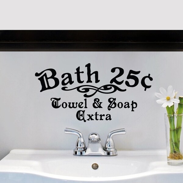 Bath 25c Towel and Soap Extra Small Wall Decal