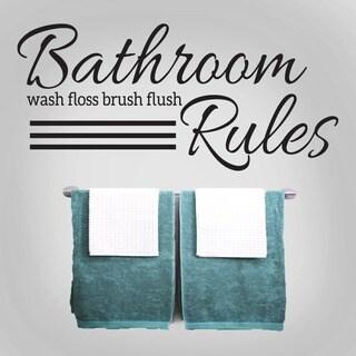 Bathroom Rules 48 x 22-inch Wall Decal