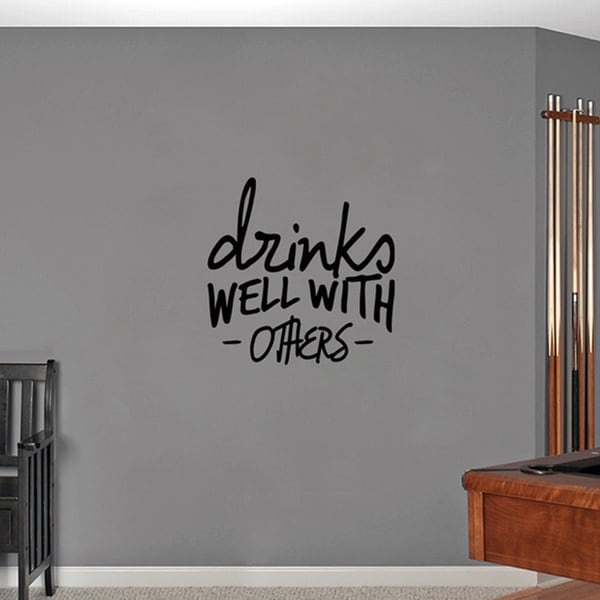 Drinks Well With Others Medium Wall Decal