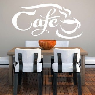 Cafe' 44 x 22-inch Wall Decal