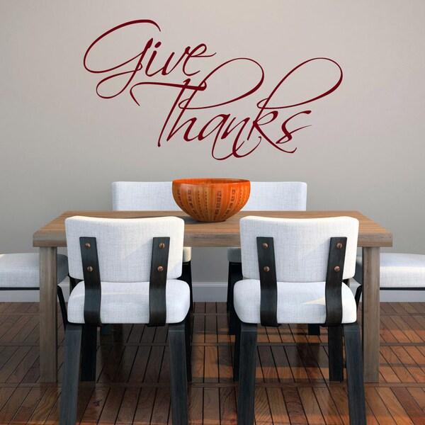 Give Thanks Medium Wall Decal