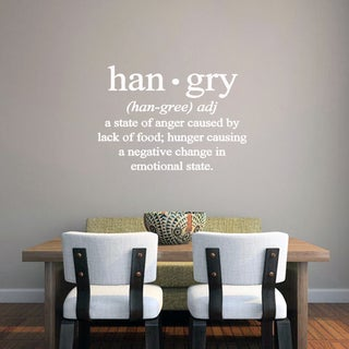 Hangry Kitchen' 32 x 22.5-inch Wall Decal