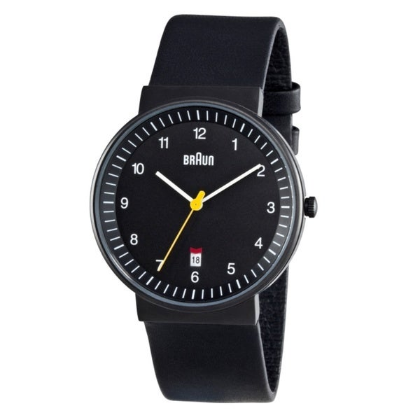 Braun Mens BN0032BKBKG Black Quartz Watch