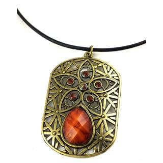 Mama Designs K-111 Handmade Ornate Charm Style Necklace