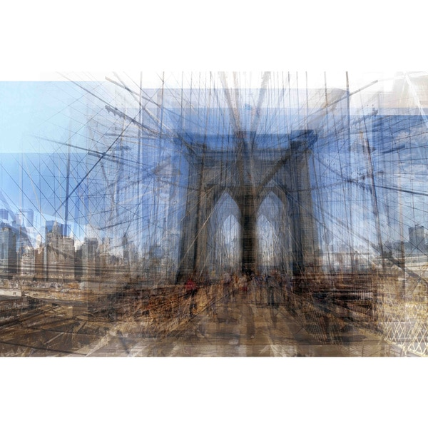"Marmont Hill - ""Brooklyn Bridge"" Painting Print on Canvas"