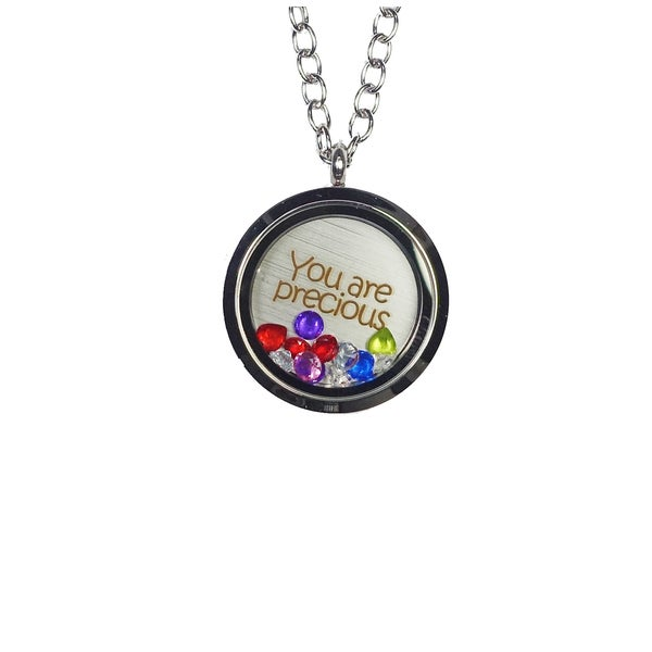 Pink Box 'You Are Precious' Stainless Steel Love Message Locket