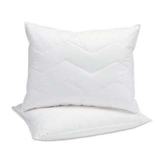 Fusion Cotton 95/5 Mini Feather and Down Inner and Down Alternative Outer Standard Size Pillow (Set of 2)
