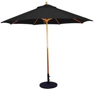 9' Umbrella with Light Wood Pole and Black Shade