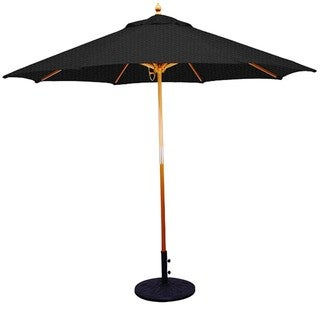 11' Umbrella with Light Wood Pole and Black Shade