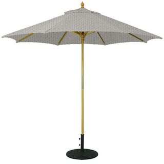 9' Umbrella with Light Wood Pole and Canvas Shade
