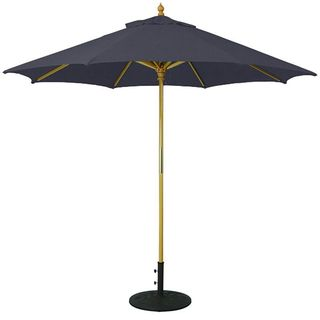 9' Umbrella with Light Wood Pole and Navy Shade