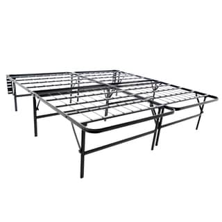 Structures Highrise Foldable Bed Frame & Mattress Foundation- 18-inch Deluxe Height Queen