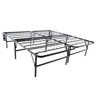 Foldable Bed Frame & Mattress Foundation- 18-inch Deluxe Height Full-sized by Brookside