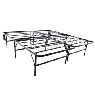 Brookside Foldable Bed Frame & Mattress Foundation- 18-inch Deluxe Height Twin-sized