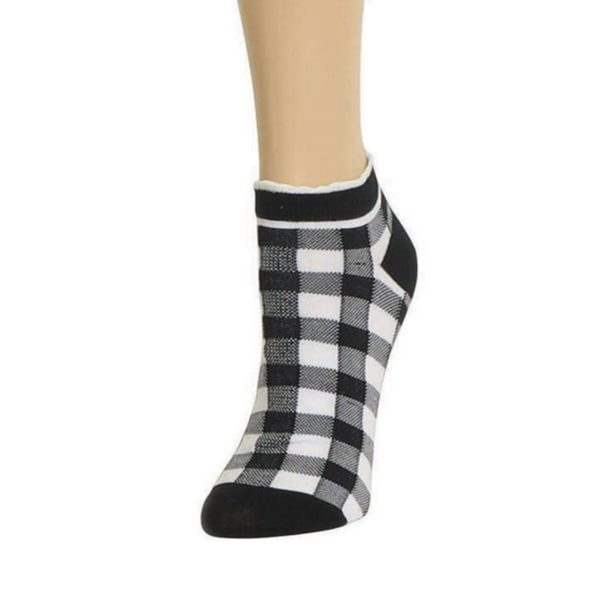 Memoi Women's Checkerboard Low Cut