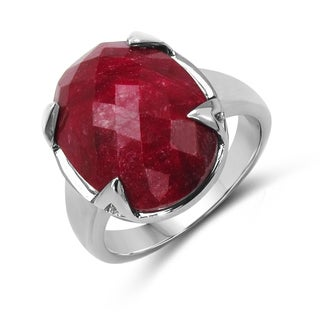 Malaika Sterling Silver Genuine Ruby Ring